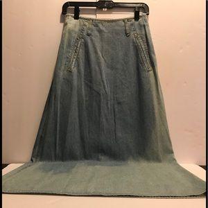 High waist long jeans skirt by Liz Wear